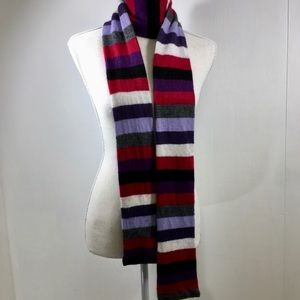 J Crew Multicolor Lambs Wool blend Striped Scarf
